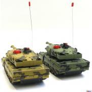 Радиоуправляемый танковый бой HUAN QI (2 танка по 23 см, 2 пульта, ИК-пушки, звук)